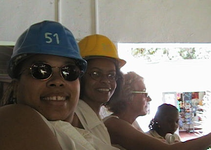 Women in hard hats--this should be fun
