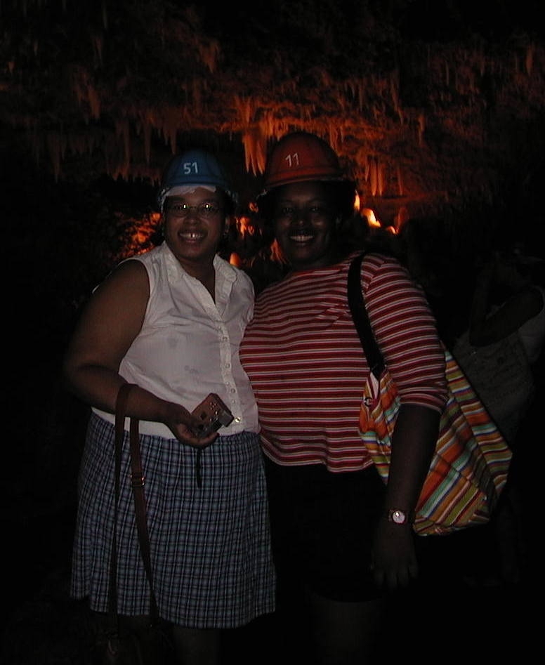 Jami and Kathy in the Cave